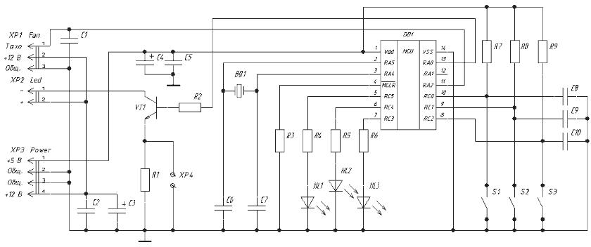 Схема стробоскопа на
