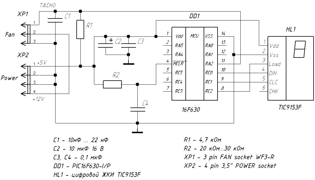 Рис.1 Схема измерителя