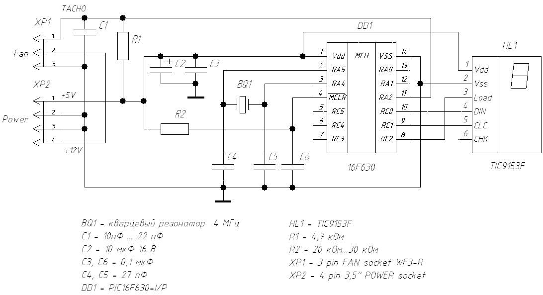 Рис.2 Схема измерителя